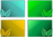 Frames eco leaf design — Stock Vector