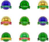 Natural eco labels set — Stock Vector