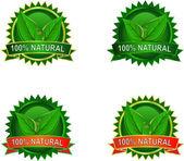 自然生态产品标签 — 图库矢量图片
