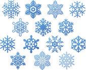 Snöflingor. — Stockvektor