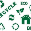 Royalty-Free Stock Vector Image: Green environment and recycle icons