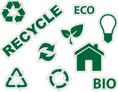 Green environment and recycle icons — Stock Vector