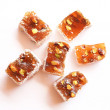 Sweet turkish delights on white background - Stock Photo