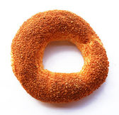 The Turkish bagel strewed by sesame seeds — Stock Photo