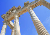 Turkey. Side. Ruins of a temple of Apollo. — Stock Photo