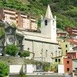 Stock Photo: Italy. Cinque Terre. Church in Riomaggiore village
