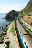 Italie. Cinque terre. train à la gare manarola — Photo