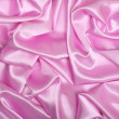 Smooth elegant pink silk as background — 图库照片