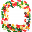 Various multicolor pills and capsules - Lizenzfreies Foto