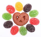 Bunte Jelly Süßigkeiten als Hintergrund — Stockfoto