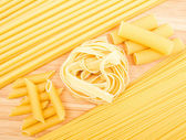 Different kinds of italian pasta — ストック写真