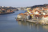 Portugal. Porto city. View of Douro river embankment — Foto de Stock