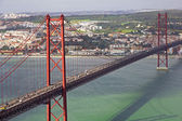 Portugal. Lisbon. The 25th of April Bridge — Stock Photo