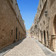 Greece. Rhodos island. Old Rhodos town. Street of the Knights - Stock Photo