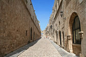 Greece. Rhodos island. Old Rhodos town. Street of the Knights — Stock Photo