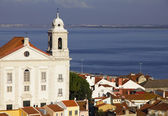 Portugal. Panorama of Lisbon in the evening — Stockfoto
