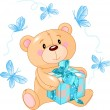 Vector de stock : Teddy Bear showing