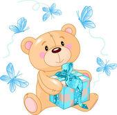 Teddy Bear showing — Stock Vector