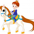 Little princess on horse — Vector de stock
