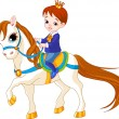 Stock Vector: Little princess on horse