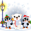 Christmas carolers — Vector de stock #4295496