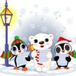 Christmas carolers — Stock Vector