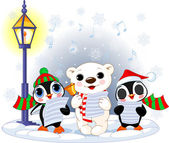Christmas carolers — Vector de stock