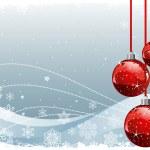 与球和雪花圣诞背景 — 图库矢量图片