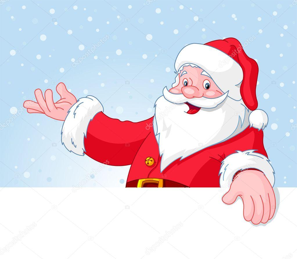 Christmas Santa Claus over blank greeting (place) card ...: http://depositphotos.com/4345513/stock-illustration-christmas-santa-claus-over-blank.html