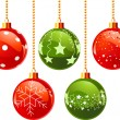 Royalty-Free Stock Vector Image: Color Christmas balls