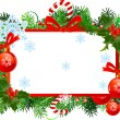 Stock Vector: Christmas frame