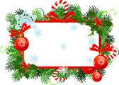 Vánoční rám — Stock vektor