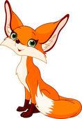 Cute cartoon fox — Stock Vector