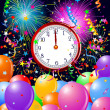 Royalty-Free Stock Vector Image: New Year midnight clock background