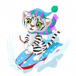 Fast fun Tiger — Stock Vector