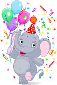 Baby elephant birthday — Stock Vector