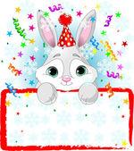Baby Bunny New Year — Stock Vector