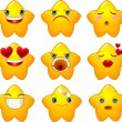 Royalty-Free Stock Vector Image: Set of smileys stars