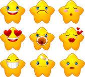 Set of smileys stars — Stock Vector