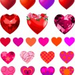 Set of Different Hearts — Stock Vector #4563277