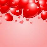 globos rojos San Valentín cae — Vector de stock
