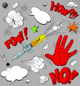 Set of comic book explosions — Stock Vector