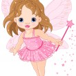Cute little baby fairy — Vector de stock #4650832