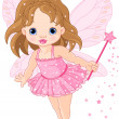 Stock Vector: Cute little baby fairy