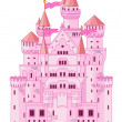 Magic princess Castle — Stock Vector