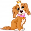 Royalty dog — Vector de stock #4650837