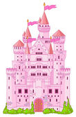 Castelo de princesa mágico — Vetor de Stock
