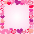Valentine Day Pink frame - Stock Vector