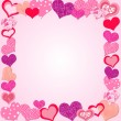 Stock Vector: Valentine Day Pink frame