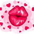 Royalty-Free Stock Vector Image: Love kiss design